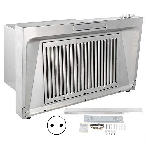 Afzuigkap onder kast keuken afzuigkap keuken vetafzuiger Luchtstroom Aan de wand gemonteerde zuurkast Gemakkelijk te wassen Huishoudelijke benodigdheden met Baffle voor keuken thuis(EU-stekker)