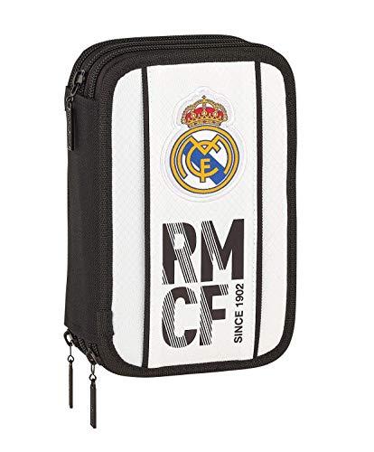 Estuche Real Madrid de 3 pisos completo + llavero silbato de regalo