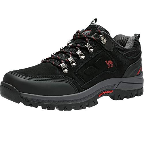 CAMEL CROWN Wasserdichte Wanderschuhe Outdoor Trekking Schuhe Männer Sport Hiking Bergschuhe für Klettern Reisen Täglichen Gebrauch Trainer,Schwarz,41 EU