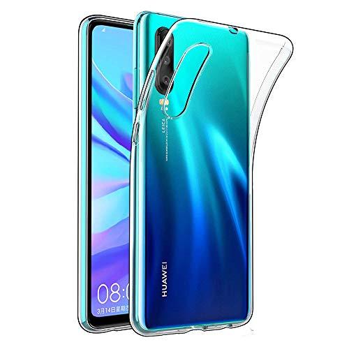 Amonke Handyhülle für Huawei P30 - Soft Flexible Huawei P30 Hülle Silikon Transparent, Ultra Clear TPU Hülle Cover Durchsichtige Handytasche Schutzhülle für Huawei P30 (6,47 Zoll)