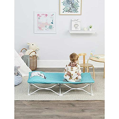 Regalo My Cot Pals Small Single Portable Toddler Bed, Teal