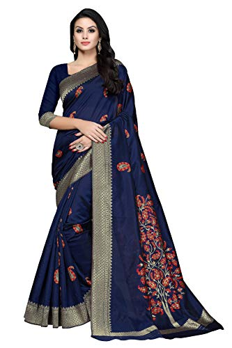 Soru Fashion Women's Kanjivaram Cotton Art Silk Saree with