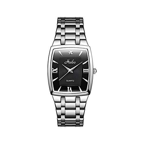 Sarazong's watch Stahlband-Paar-Uhr, Männer und Frauen sehen Quarz-einfache Mode-männliche und weibliche Studenten-Konzept-Armbanduhr, Freizeit-Uhr-Uhren für Paar-Uhr,A,Men