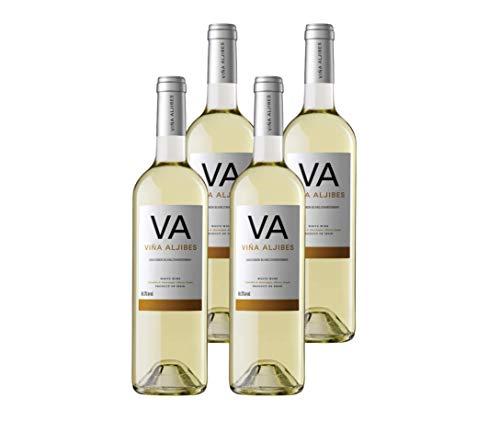 Viña Aljibes Blanco Magnum 1,5L - Vino Blanco - Sauvignon Blanc - Chardonnay - 4 botellas