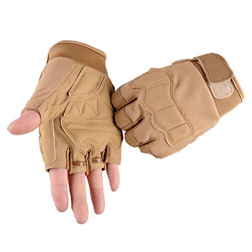QIMANZI Outdoor Handschuhe Herren Taktische Trainings Motorradhandschuhe Kletterhandschuhe Vollfinger Fingerlose Gloves Wander Klettern Motorrad Fahrrad Radsport Arbeiten(B)