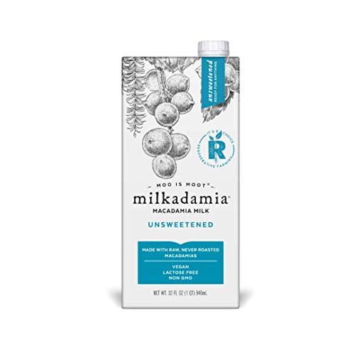 Milkadamia Milk Macadamia Unsweetened, 32 fl oz (Pack Of 6)
