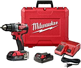"Milwaukee - Taladro inalámbrico M18 1/2"" CP sin escobillas HD KT 2802-22CT (280222CT)"