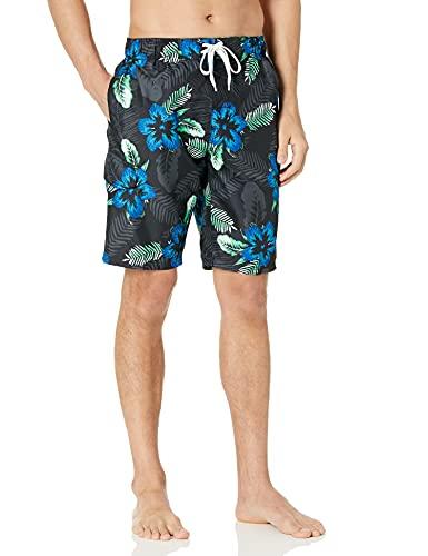 Kanu Surf Men's Echelon Swim Trunks (Regular & Extended Sizes), Costa Black, Large