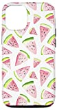 iPhone 12/12 Pro Cute Summer Watermelon Watercolor on White AEC047 Case