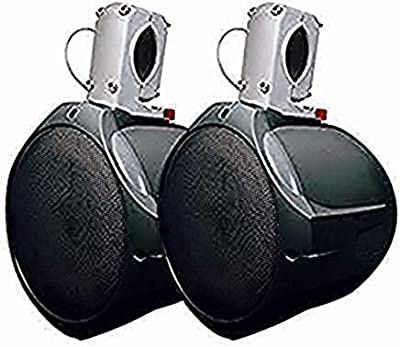 MCM Custom Audio Marine Wakeboard Speaker Pair Black 6.5 Inch Two Way