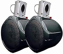 MCM Custom Audio 60-10021 Marine Wakeboard Speaker Pair Black 6.5 Inch Two Way