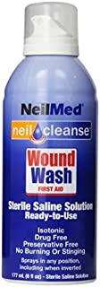 NeilMed Cleanse Sterile食塩水Wound Wash、6オンス、モデル、Spoorting Goods Shop