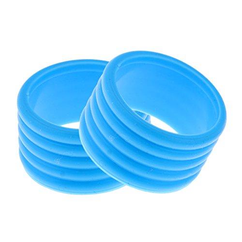 CUTICATE 2X Abschlussgummi Ringe für Badminton Tennis Schläger - Blau