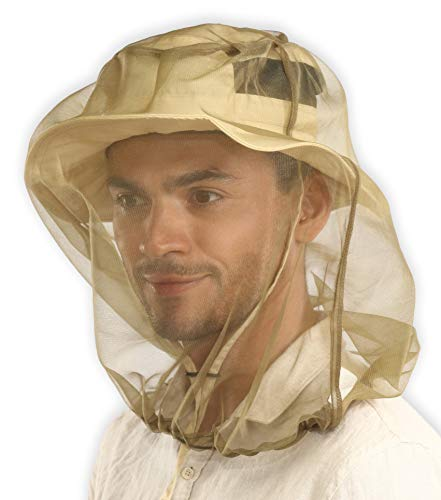Mosquito Head Net - Bug Head Net & Mosquito Mesh for Outdoor Protection - Extra Fine Insect Net Mask Cover from Gnats, No-See-Ums & Midges - Mosquito Face Netting for Men & Women - w/ Free Pouch
