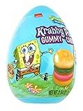 Spongebob Squarepants Gummy Krabby Patty Candy Filled Easter Eggs Basket Stuffer for Kids, 2.54 Ounce