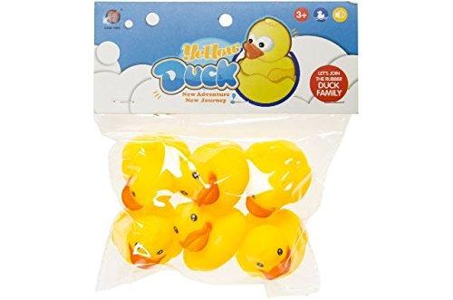 Schnooridoo 6 gelbe Badeenten Funny Duck Gummiente Ente Badewanne Spielzeug Kinder Pool