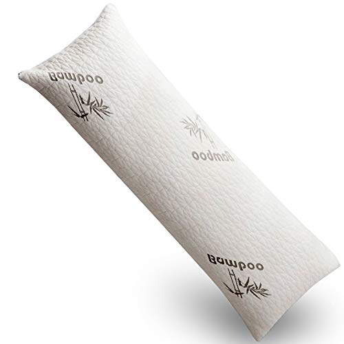 DOWNCOOL Long Body Pillow for Adults,100% Shredded Memory...
