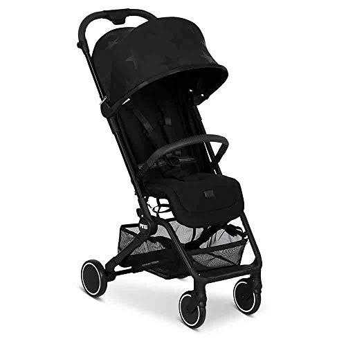 ABC Design Reisebuggy Ping – Sportwagen ideal für den Urlaub – Liegeposition – kompaktes Faltmaß mit Transportsicherung – ab Geburt bis 15 KG - Farbe: black