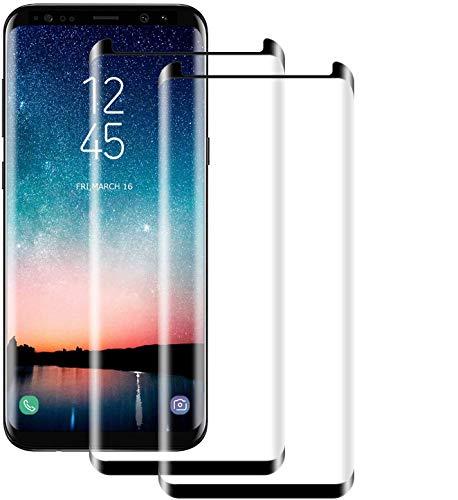 NUOCHENG [2 Pièces Verre Trempé pour Samsung Galaxy S8, Film Protection en Verre trempé Écran Protecteur Vitre HD-Anti Rayures-sans Bulles d'air-Ultra Résistant-Dureté 9H pour Samsung S8