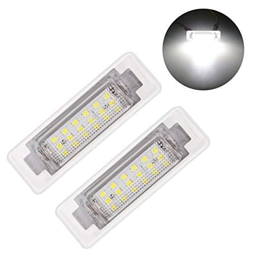 MuChangZi 2Pcs LED Number License Plate Lights Lamp No Error 12V 6000k White License Light For B/enz E300 E320 E420 E430 E55 AMG C230 C280 C43 AMG