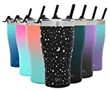 Simple Modern 22oz Slim Cruiser Tumbler with Straw & Closing Lid Travel Mug - Gift Double Wall Vacuum Insulated - 18/8 Stainless Steel Water Bottle Design: Lunar