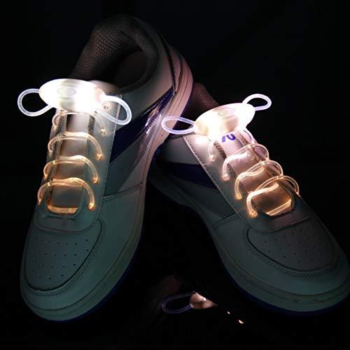 RTYU 1 par 120cm Manera LED Luminoso, cordón Juguetes Accesorios Glow In The Dark Mejora la Habilidad Manipulador Regalo Juguetes (Color : LED White)