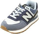 New Balance Men's 574 V2 Military Sneaker, Vintage Indigo, 17 M US