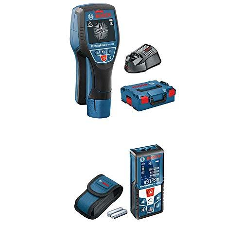 Bosch Professional Ortungsgerät D-tect 120 (1x 1,5 Ah Akku, Schnellladegerät, L-BOXX, Ortungstiefe max: 120 mm, 12 Volt) & Professional Laser Entfernungsmesser GLM 50 C