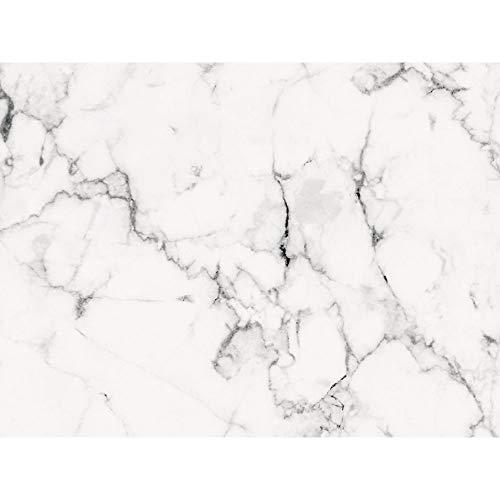 PrintYourHome Fliesenaufkleber für Küche und Bad | Dekor Marmor Weiß Schwarz | Fliesenfolie für 15x20cm Fliesen | 42 Stück | Klebefliesen günstig in 1A Qualität