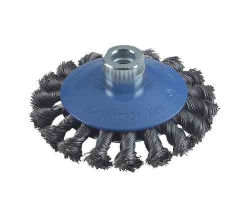 Bosch Professional Zubehör 2608622011 Kegelbürste 100 mm, 0,5 mm, 12500 U/ min, 12 mm, 14