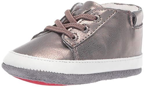 Robeez Girls' Low Top Sneaker-Mini Shoez Crib Shoe, Bronze, 12-18 Months M US Toddler