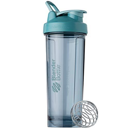 BlenderBottle Shaker Bottle Pro Series Perfect for Protein Shakes and Pre Workout, 32-Ounce, Cerulean Blue