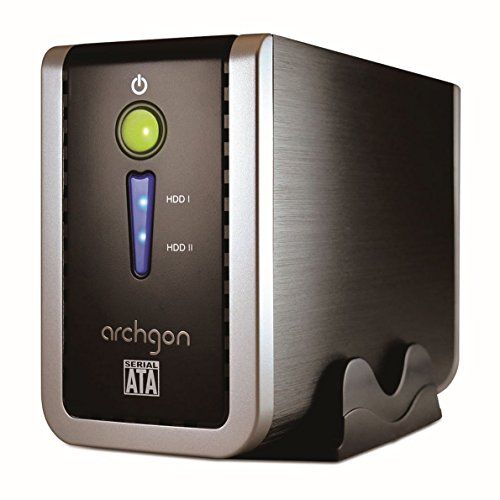 Archgon MH-3622-PRD USB 3.0 Dual-Bay 3.5-inch Hard Drive Enclosure with JBOD/Raid 0/Raid 1