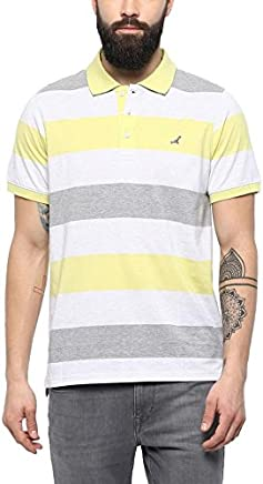 AMERICAN CREW Men's Cotton and Polyester Blend Polo T-Shirt