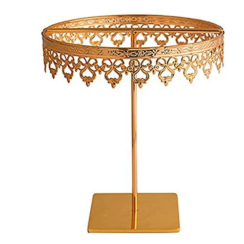 XIAOFANG Joyería Rack Hogar Princesa Regalo Colgante Pendiente Collar Corona (Color : Gold, Size : S)