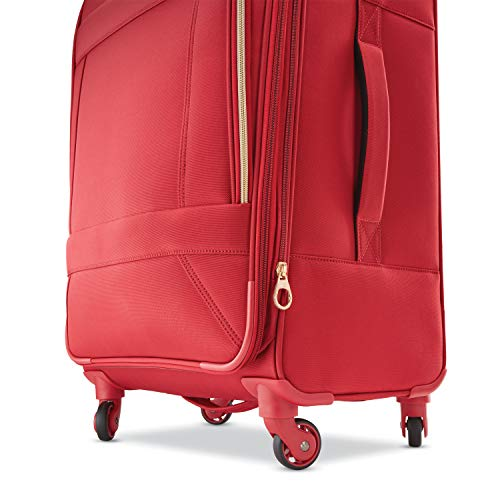 American Tourister Belle Voyage Softside Luggage with Spinner Wheels, Red, Carry-On 21-Inch