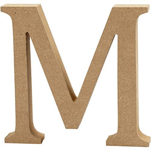 Creativ Deko-Buchstabe'M' aus MDF, 13x 2cm, Braun
