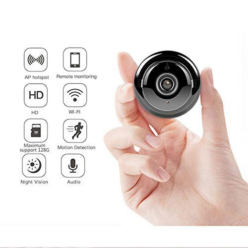 1080P Mini Cámara Inalámbrica WiFi IP HD Cámara Espía Interior Inteligente Cámara de Seguridad para Hogar con Visión Nocturna Detección de Movimiento