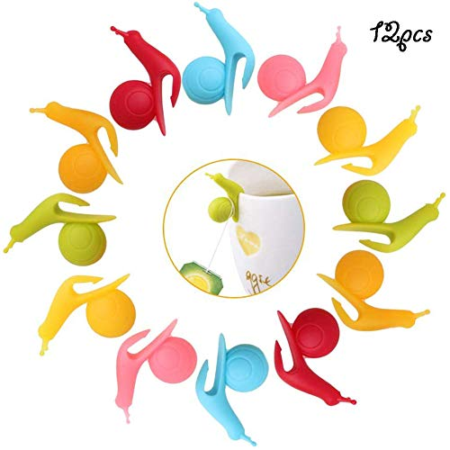 Glasmarker -WENTS 24PCS Glasmarkierer Silikon, Glas Markierung,Schnecken Wine Glass Wiederverwendbare,Markierungen für Party Weinglas Tiere Set kleinigkeiten unter 5 Euro
