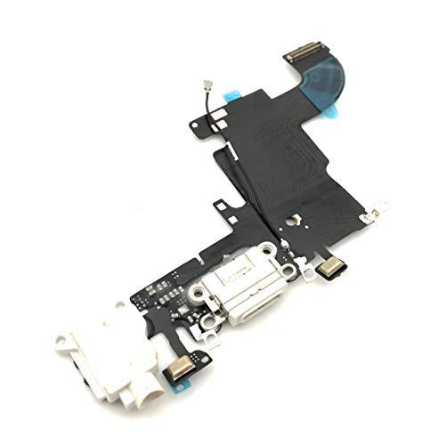 enoaFIX dock connector compatibel met iPhone 6S oplaadbus inclusief audio jack/hoofdtelefoon aansluiting, antenne, microfoon en Lightning connector in wit