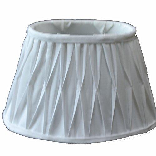 Lampenschirm Oval Plissee Weiß TL 25-15-16