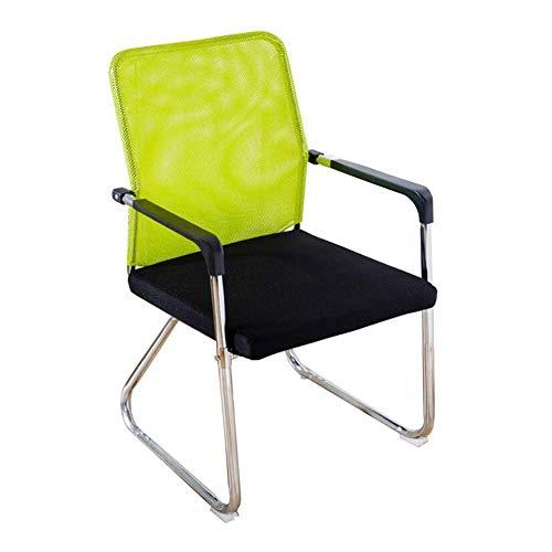 JIEER-C vrijetijdsstoelen bureaustoel leren computertafel stoel persoonlijke stoel conferentiestoel rugleuning boog luier stoel duurzaam sterk groen