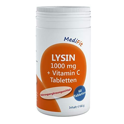 MediFit Lysin 1.000mg + Vitamin C Tabletten