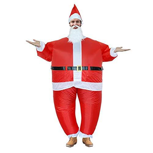 Costume gonfiabile di Babbo Natale, Costume cosplay Costume divertente Natale Babbo Natale Gonfiabile...