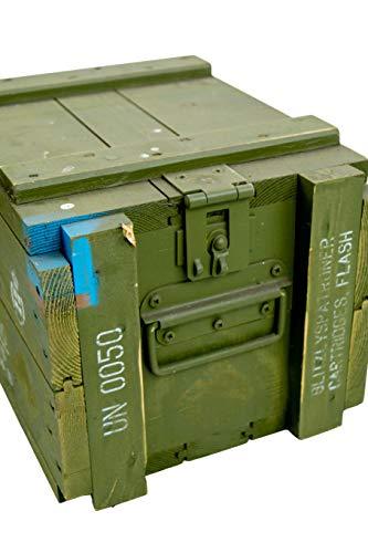 Kistenkolli Altes Land Dänische Munititionskiste Box M00 Holz-kiste-Truhe Schatzkiste Militärkiste - 5