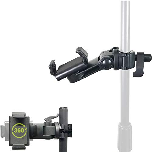 ChargerCity Music Pro Lyric Pole Bar Microphone Boom Mic Stand Mount for All Smartphones (Holder Opens up to 3.5 & Great for Zoom Video)