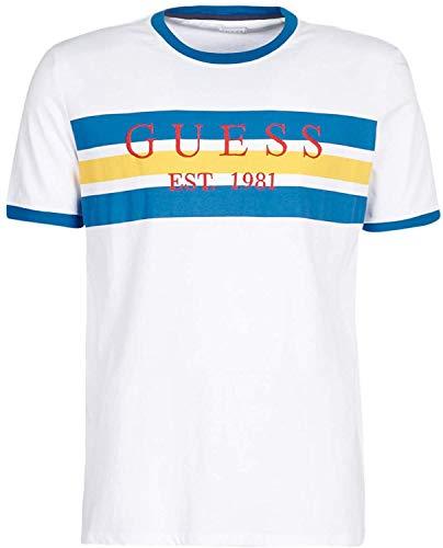 Guess Garth - Polo para hombre, color blanco y azul
