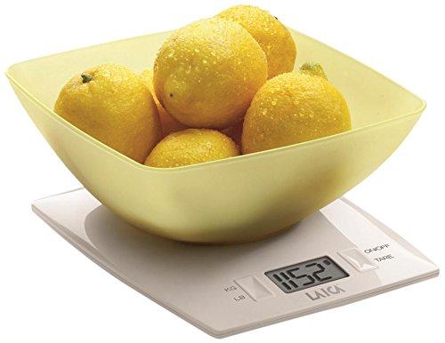Laica KS1012 Bilancia da Cucina Elettronica, 3 kg, Ciotola Gialla