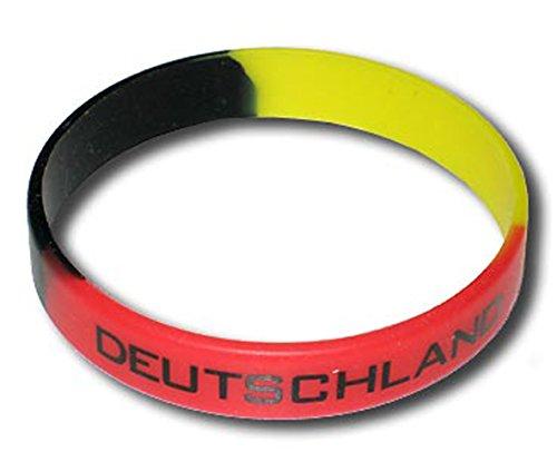 Supportershop Deutschland Armband Silikon Fußball, Schwarz, FR: Einheitsgröße (Größe Hersteller: Größe One sizeque)