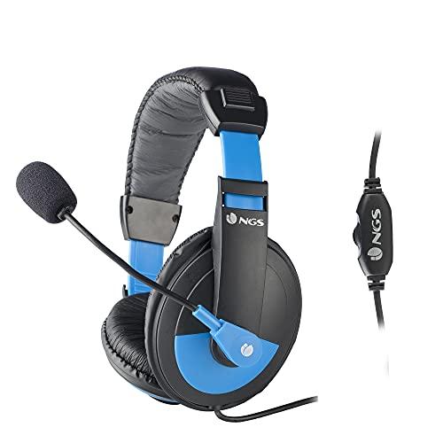 NGS MSX9 PRO BLUE - Auriculares con Diadema...